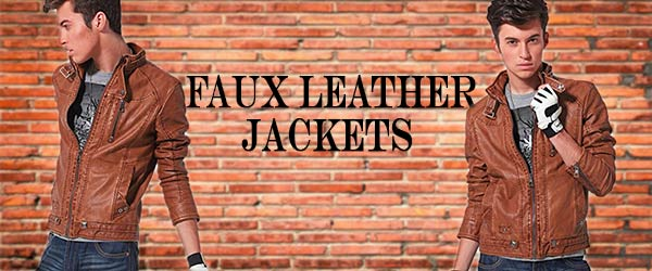 mens faux leather jacket banner