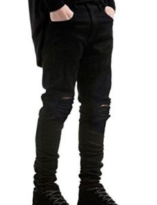 Mens Black Ripped Jeans