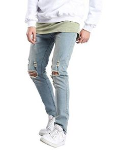 Light Blue Ripped Distressed Jeans