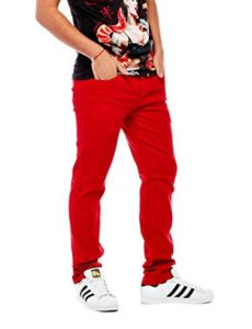 Red jeans for men
