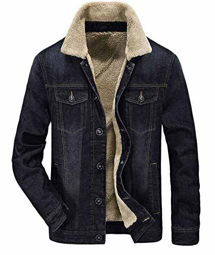 Zicac Men's Fleeced Denim Jacket