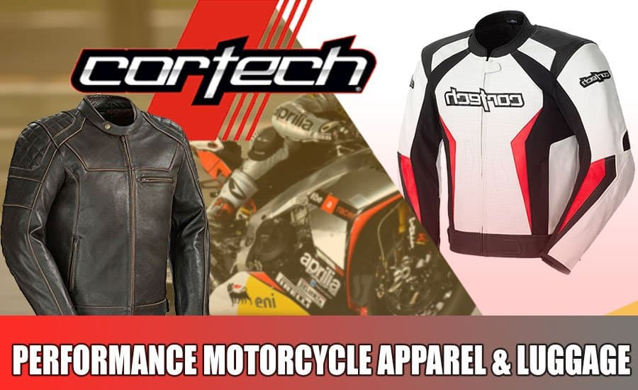Cortech motorcycle apparel banner