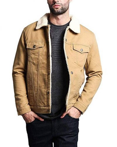 G-Style USA Classic Sherpa Faux Shearling Heavyweight Denim Work Jacket