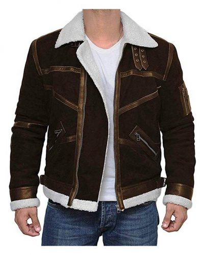Decrum Brown Suede Leather Jacket