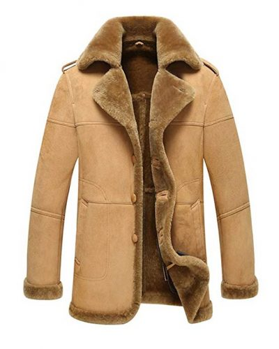 Sheepskin Jacket B-3 Bomber Outerwear Flight Coat