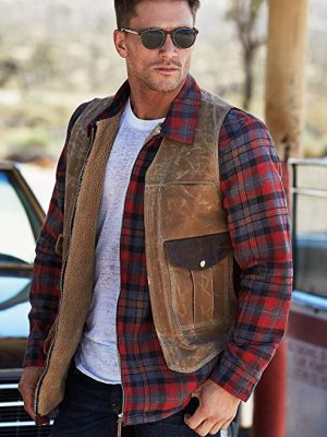 Sherpa Lined Cotton Flannel Shirt Jackets
