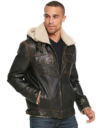 Wilsons Leather Classic Leather Bomber B3 WFaux Shearling