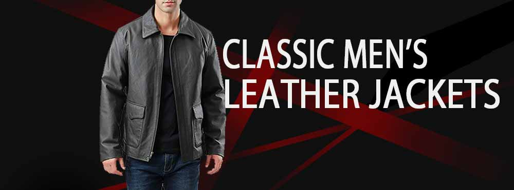 classic leather jackets men