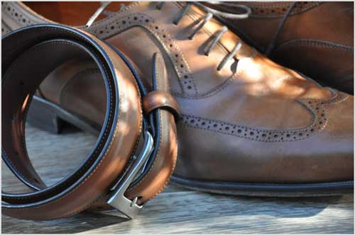 belt and shoes menswear fashion