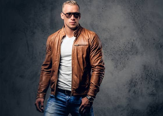 leather jacket styles men