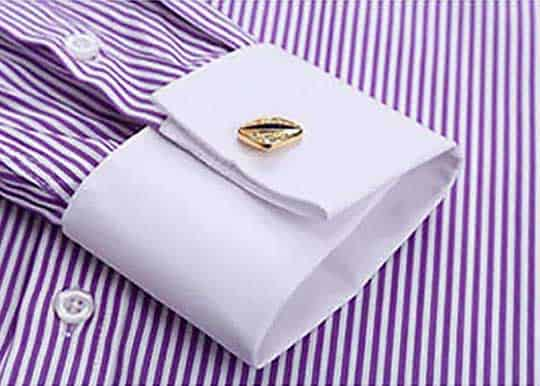French cuff dress shirt for men