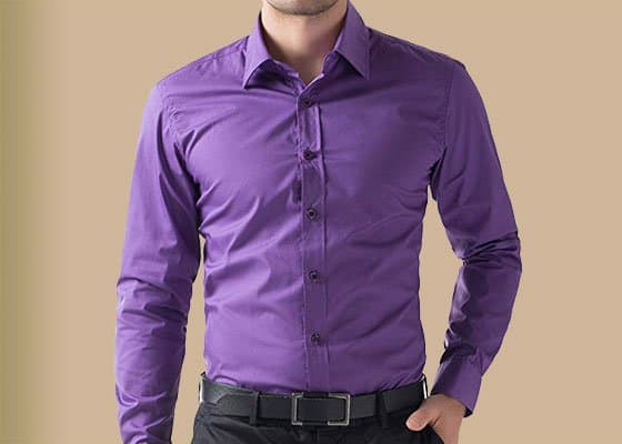 purple dress shirts for men